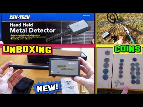 Hand Held Metal Detector Pinpointer UNBOXING Harbor Freight detecting coins pin pointer