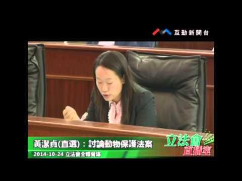 黃潔貞2 20141024 立法會全體會議