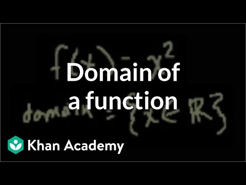 Domain - Learn more: http://www.khanacademy.org/video?v=U-k5N1WPk4g Figuring out the domain of a function.