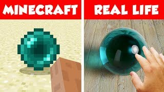 MINECRAFT ENDER PEARL IN REAL LIFE! Minecraft vs Real Life animation