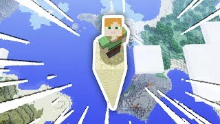 WORLD'S TALLEST TRAMPOLINE JUMP!!! (Minecraft Secret World #4)