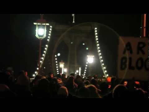 Occupy the Future: Brooklyn Bridge Bat Signal