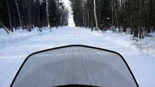 8. Ski-Doo GSX Limited 1200 4TEC 2009 snowmobile ride