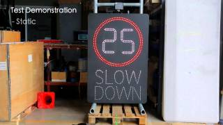 LED Smart Speed Signs
