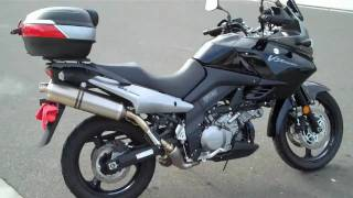 7. 2008 Suzuki V-Strom (DL1000) with Akrapovic exhaust (baffles in)