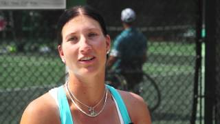 Kathrina is representing Germany in the 2012 Paralympics Wheelchair Tennis.