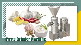 Stainless steel sauce making machine ginger garlic paste manufacturing plant cost youtube video