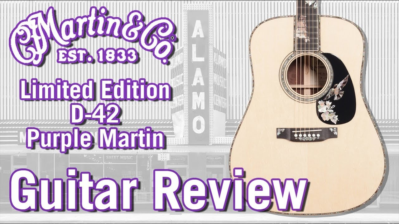 2018 Limited Martin D-42 Purple Martin Acoustic Guitar – Only 50 Made!