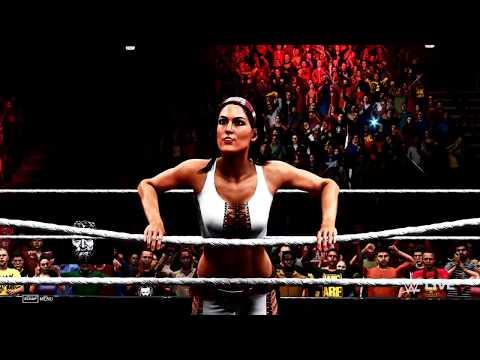 WWE 2K20 - 4K - Nikki Bella / John Cena VS Brie Bella / Daniel Bryan - Mixed Match