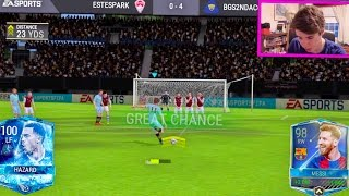 Video THE BEST PLAYER IN FIFA MOBILE w/ GAMEPLAY!!! 100 OVR HAZARD!! | FIFA Mobile iOS MP3, 3GP, MP4, WEBM, AVI, FLV Mei 2017