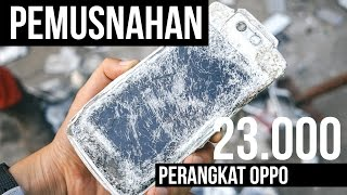 Video Pemusnahan 23.000 Ponsel Oppo MP3, 3GP, MP4, WEBM, AVI, FLV Juli 2018
