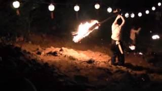 石上げ祭(15)火振り 赤坂石吊り&岩場火振り