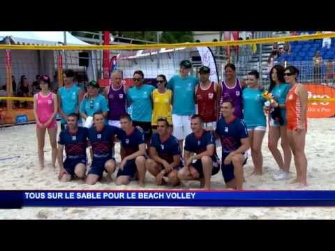 Beach volley solidaire sur la plage du Larvotto