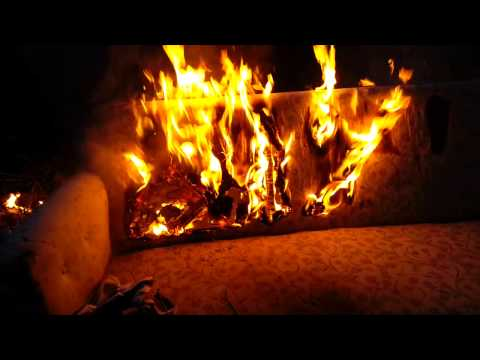 Burning Couch Video = Colorado Yule Log Video