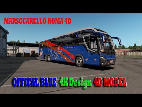 Mascarello Roma 4D Model Officially Blue 4k Design With physics v2.0