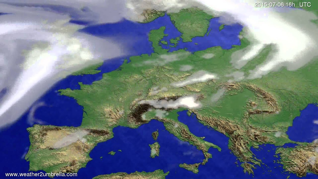 Cloud forecast Europe 2015-07-04