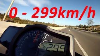 7. KTM 1290 Super Duke R - Acceleration 0-299km/h & Startup & Exhaust Sound & Burnout & Wheelie & Speed