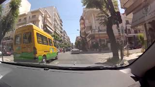 Patra Greece  City pictures : Patras downtown (Panepistimiou, Maizonos, Venizelou streets, Greece / city driving) - onboard camera