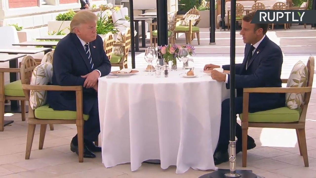 Γεύμα εργασίας για Τραμπ και Μακρόν ενόψει της συνόδου των G7