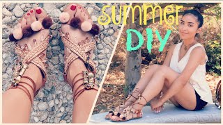 DIY: Pom Pom/Embellished Sandals   Dulce Candy by Dulce Candy