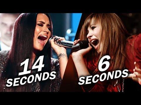 Video Demi Lovato - Longest Note in Each Year! (Live) download in MP3, 3GP, MP4, WEBM, AVI, FLV January 2017