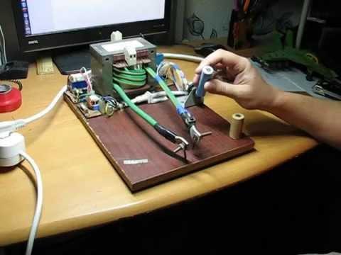 Точечная сварка для аккумуляторов своими руками из микроволновки