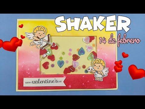 Tarjetas de amor - Manualidades para SAN VALENTÍN Tarjeta shaker 14 de febrero