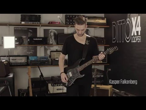 Kasper Falkenberg creates a cool atmospheric loop by using Ditto X4 Looper's Sync Mode, which lets him run two loop tracks simultaneously perfectly in sync. Learn more about Ditto X4 Looper: http://www.tcelectronic.com/ditto-x4-looper/ Music by Kasper Falkenberg