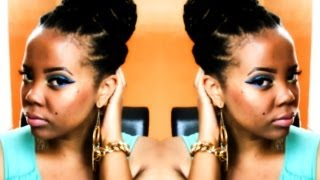 Natural Hair Summer Updo | Faux Havana Twist Mega Bun Tutorial (invisible Root Method)