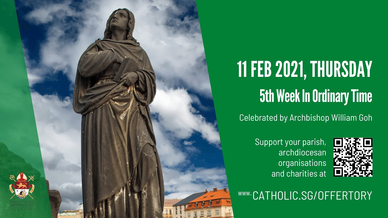 Catholic  Online Mass for 11th February 2021 Today Livestream from Singapore