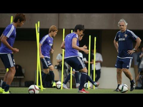 日本代表合宿 フィジカルトレーニング