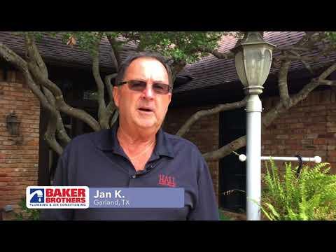 Baker Brothers Plumbing Review – Jan K. – Garland, TX