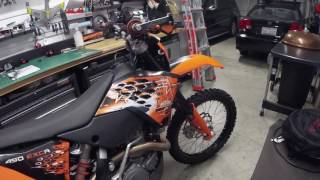 7. How to Detect Exaust Leak on 2008 KTM 450 EXC-R and possibly on any other Dirt Bike