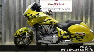 3. 2014 Victory Cross Country Factory Custom Paint Tequila G...