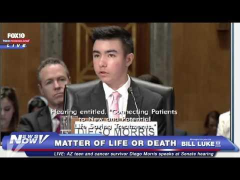 AZ Teen Cancer Survivor Diego Morris Speaks @ Senate Hearing on Access to Life-Saving Treatments