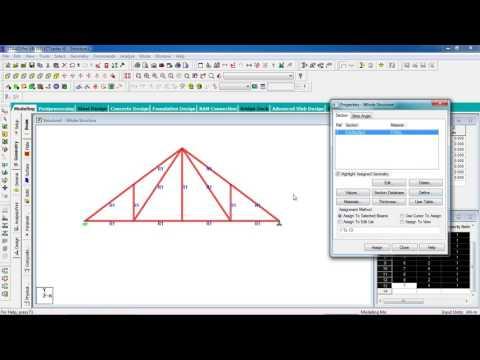 STAAD Pro Tutorials - Analysis & Design of Steel Truss Type-1 ( Day 32)