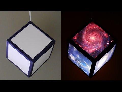 DIY pendant lamp/lantern (galaxy cube) - home and room decor - EzyCraft