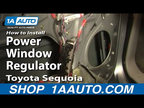 How to replace regulator on a 2003 cadillac for 2003 cadillac deville window regulator