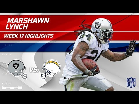 Video: Marshawn Lynch Highlights | Raiders vs. Chargers | Wk 17 Player Highlights
