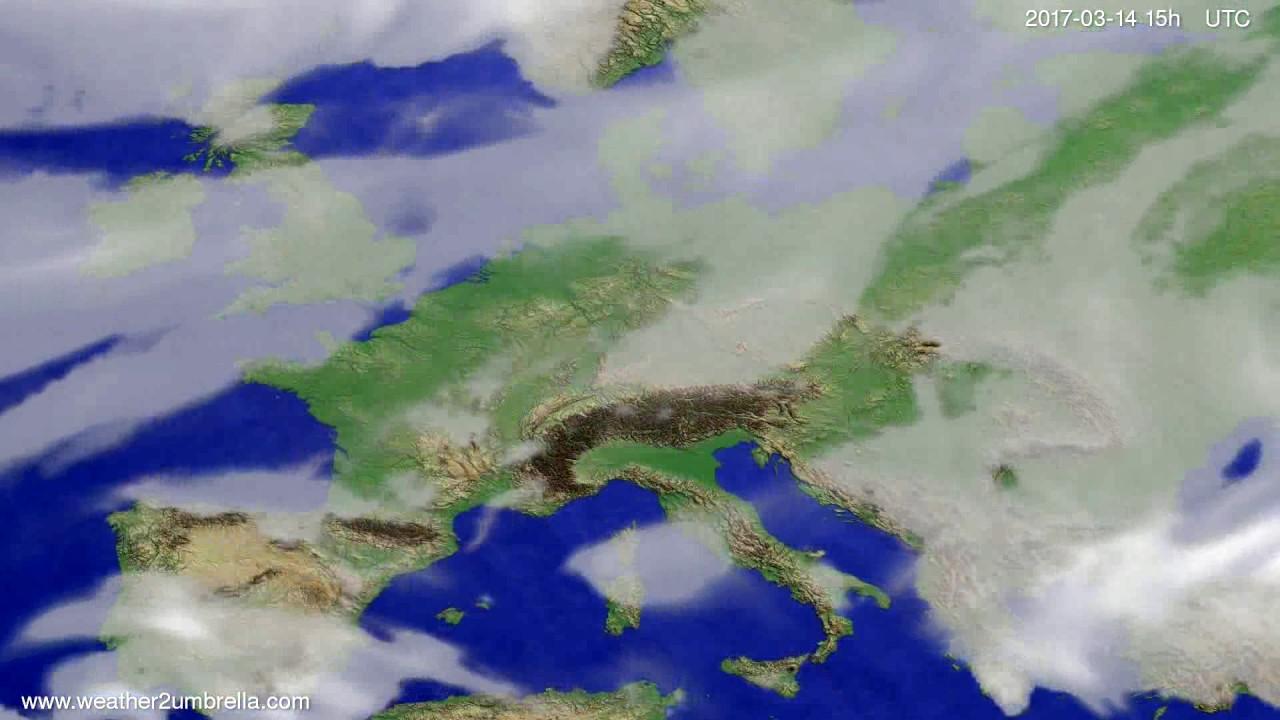 Cloud forecast Europe 2017-03-12