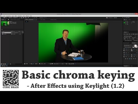 Как сделать хромакей в after effects
