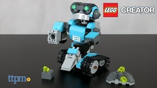 LEGO Creator Robo Explorer. 3-in-1 LEGO creator that builds 3 robots! Over 200 pieces. Moveable parts with a working track and a search light. So cool! Check out this video to see all the exciting robotic details!  For full review and shopping info► https://ttpm.com/p/23726/lego/lego-creator-robo-explorer/?ref=ytProduct Info: The LEGO Creator Robo Explorer 31062 is a 205 piece 3-in-1 creator set that takes us up into space. This set builds 3 robots; a standard robot, a robot dog and a robot bird. One super cool light brick is included for all the special exploring. The Robo Creator set has moveable parts and a working track. The head, arms and body are all posable with a working claw. This set took us about 30 minutes to create. ✮SEE MORE TOYS✮ARTSPLASH 3D LIQUID ART:https://ttpm.com/p/23570/mattel/artsplash-3d-liquid-art/?ref=ytDC SUPER HERO GIRLS FROST:https://ttpm.com/p/23551/mattel/dc-super-hero-girls-frost/?ref=ytMARVEL SPIDER-MAN SWING AND SLING SPIDEY: https://ttpm.com/p/23125/just-play/marvel-spiderman-swing-and-sling-spidey/?ref=yt✮SUBSCRIBE TTPM Toy Reviews✮https://www.youtube.com/c/ttpm✮SUBSCRIBE TTPM Baby Gear Reviews✮https://www.youtube.com/c/ttpmbaby✮SUBSCRIBE TTPM Pet Toys & Gear Reviews✮https://www.youtube.com/c/ttpmpets✮SUBSCRIBE TTPM First Look Toys Unboxing✮https://www.youtube.com/c/ttpmfirstlooktoys✮FOLLOW US✮Facebook: https://www.facebook.com/TTPMOfficialTwitter: https://twitter.com/ttpmInstagram: https://instagram.com/ttpmofficial/Pinterest: https://www.pinterest.com/ttpmofficial/Snapchat: TTPMOfficial: https://www.snapchat.com/add/ttpmofficial✮FOLLOW TTPM Baby✮Facebook: https://www.facebook.com/TTPMBaby/Twitter: https://twitter.com/TTPMbabyInstagram: https://www.instagram.com/ttpmbaby/✮FOLLOW TTPM Pets✮Facebook: https://www.facebook.com/TTPMPetsTwitter: https://twitter.com/TTPMPetsInstagram: https://www.instagram.com/ttpmpets/Pinterest: https://www.pinterest.com/ttpmpets/Disclosure: Toys reviewed by TTPM are selected by the TTPM editorial team