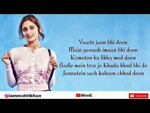 Vaaste Full Song With Lyrics Dhvani Bhanushali   Nikhil D'Souza