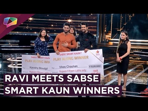 Ravi Dubey Gives Prizes To Sabse Smart Kaun Winner
