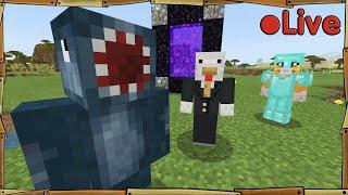 Minecraft - W/Squid + Sqaishey - 🔴 Live by Stampy