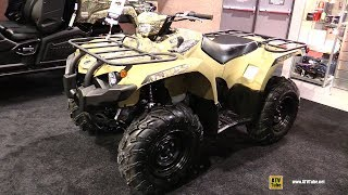 7. 2019 Yamaha Kodiak 450 DAE Camo Recreational ATV - Walkaround - 2019 Quebec Motorcycle Show