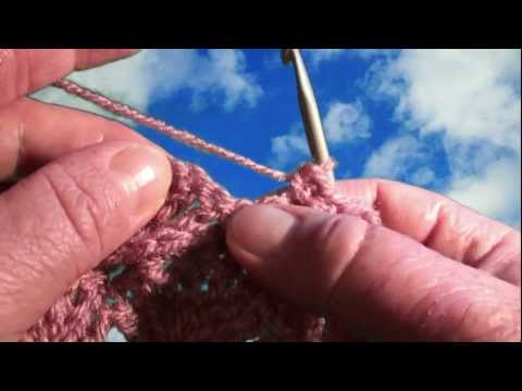 How to crochet shells, muszelki na szydełku