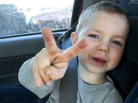 Peace out hommie - My son, Learning how to communicate in North Tulsa.