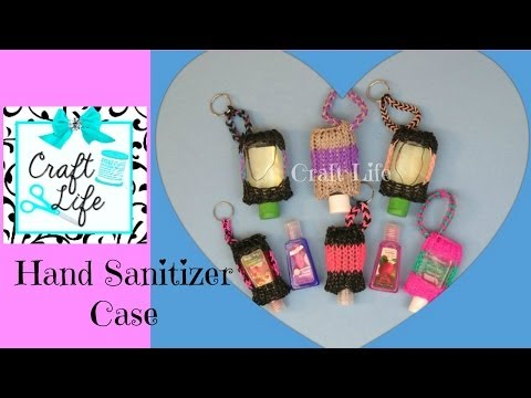 hand - Craft Life Hand Sanitizer Case Tutorial on One Rainbow Loom ~ Copyright © 2014 Craft Life. All rights reserved. This material may not be published, broadcast...