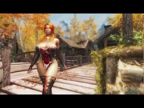 [Skyrim] 歩いているだけの動画です。